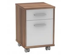 Kancelářský kontejner, švestka / bílá, JOHAN 2 NEW 07