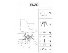Jídelní židle ENZO oranžové