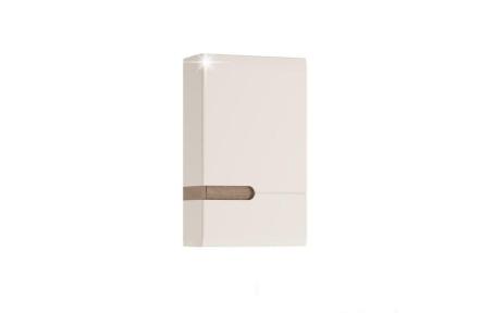Horní skříňka 1D, bílá extra vysoký lesk HG / dub sonoma truflový, pravá, LYNATET TYP 157