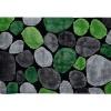 Koberec, zelená / šedá / černá, 200x300, PEBBLE TYP 1