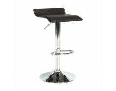 Barová židle, ekokůže hnědá / chrom, LARIA NEW