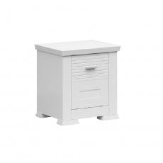 Noční stolek, 1D, bílá, ARYAN