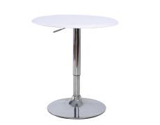 Barový stůl s nastavitelnou výškou, bílá, BRANY