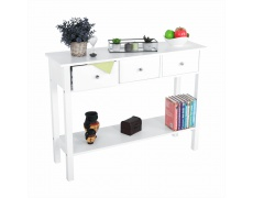 Konzolový stolek, bílá, NITRO