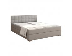 Boxpringová postel 160x200, světle šedá, FERATA KOMFORT