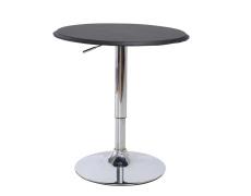 Barový stůl s nastavitelnou výškou, černá, BRANY