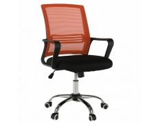 Kancelářská židle, síťovina oranžová / látka černá, APOLO