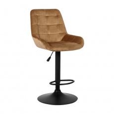 Barová židle, hnědá Velvet látka, CHIRO