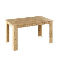Jídelní stůl, dub artisan, 140x80, GENERAL NEW