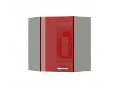 Skříňka horní, červený vysoký lesk, PRADO 60/60 N G-72