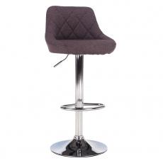 Barová židle, šedohnědá TAUPE / chromová, MARID