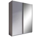 Skříň s posuvnými dveřmi, šedá, 150, ROZINE