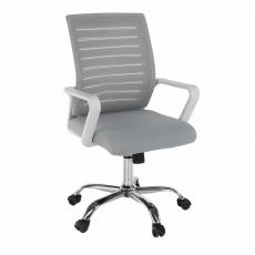 Kancelářské křeslo, bílá/šedá, CAGE