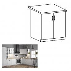 Spodní skříňka s dvířky D60, bílá / sosna andersen, PROVANCE