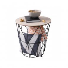 Příruční stolek, přírodní/černá, NANCER TYP 3