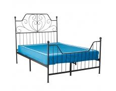 Kovová postel s roštem, černá, RAJANA