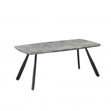 Jídelní stůl, 180 cm, beton / černá, ADELON