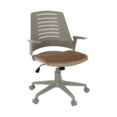 Kancelářská židle, šedá / hnědá, DARIUS