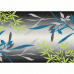 Koberec, vzor listy, vícebarevný, 57x90, TASNIM