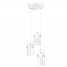 Visící lampa, bílá / kov, DEVAN