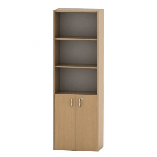 Kancelářská skříňka se zámkem, buk, TEMPO ASISTENT NEW 002
