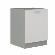 Skříňka dolní, bílá extra vysoký lesk/šedá, PRADO 60 D 1F BB
