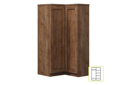 Rohová skříň, dub lefkas, TEDY TYP T25