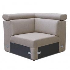 Rohová část na objednávku k luxusní sedací soupravě, béžová, MARIETA
