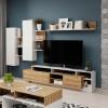 Obývací stěna, dub grandson/bílá, ALICANTE