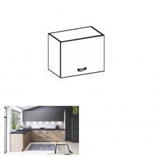 Horní skříňka, dub artisan, LANGEN N40