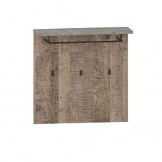 Věšákový panel, dub pískový / šedá, BARIA 80