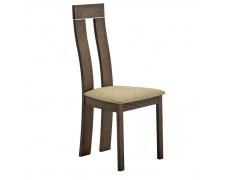 Dřevěná židle, třešeň/látka hnédá, DESI