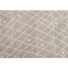 Koberec, béžovobílá / vzor, 100x1150, TYRON