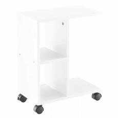 Příruční stolek, bílá, ABBAS NEW