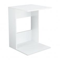 Příruční stolek, bílé provedení, ZENOR