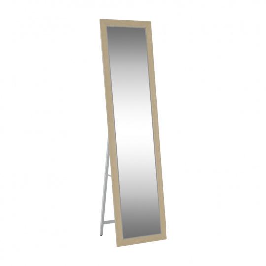Zrcadlo, béžová/bílá, ASUEL