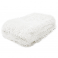 Kožešinová deka, bílá, 150x180, Ebona TYP 1