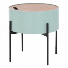 Příruční stolek, neo mint / přírodní / černá, MOSAI