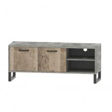 RTV stolek, dub pískový / šedá, BARIA 2D/140