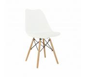 Židle, bílá/buk, Kemal NEW