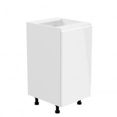 Spodní skříňka, bílá / bílá extra vysoký lesk, pravá, AURORA D40