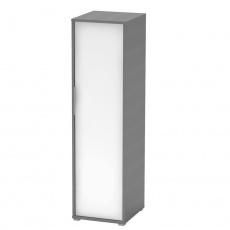 Věšáková skříň, grafit / bílá, RIOMA NEW TYP 20