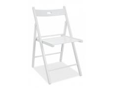 Jídelní skládací židle Smart II celodřevěná bílá