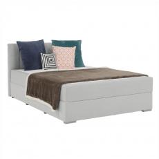 Boxspringová postel 120x200, světle šedá, FERATA KOMFORT