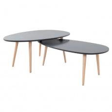 Set 2 konferenčních stolků, šedá/šedá, DOBLO