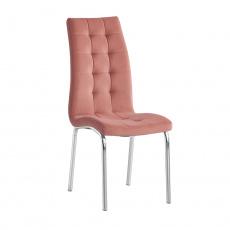 Jídelní židle, růžová / chrom, GERDA NEW