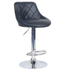 Barová židle, černá ekokůže/chromová, MARID
