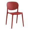 Židle, červená, FEDRA