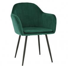 Designové křeslo, smaragdová Velvet látka, ZIRKON
