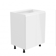 Spodní skříňka, bílá / bílá extra vysoký lesk, AURORA D602F